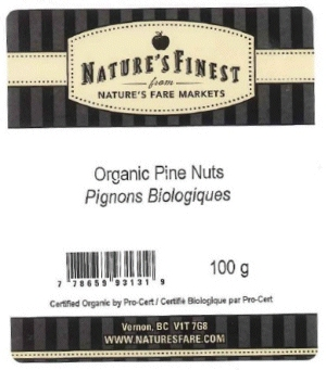 Nature's Finest - Organic Pine Nuts - 100 gram