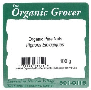 The Organic Grocer - Organic Pine Nuts - 100 gram