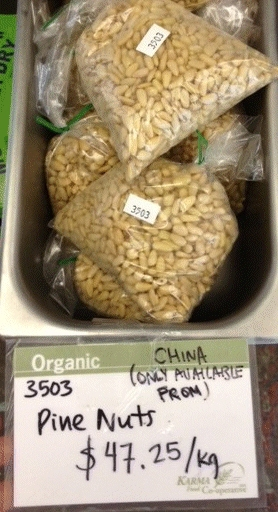 Karma Co-Op - Pine Nuts (unlabelled)