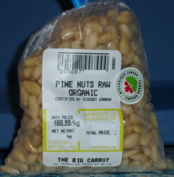 The Big Carrot - Pine Nuts Raw Organic