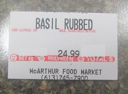 McArthur Food Market - Basil Rubbed