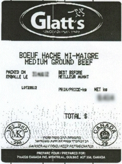 Glatt's medium ground beef - Alimentation Marcel Picard