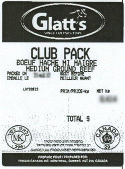 Glatt's medium ground beef Club Pack - Alimentation Marcel Picard