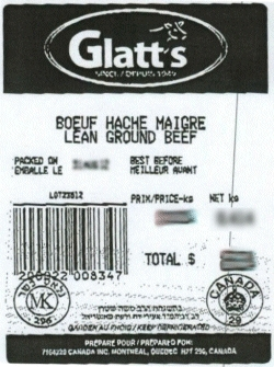 Glatt's lean ground beef - IGA #108