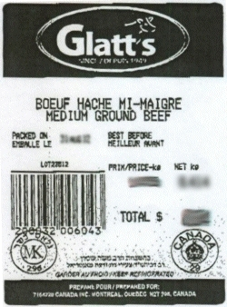 Glatt's medium ground beef - IGA #108