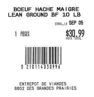 Sold from Entrepot de Viandes-Lean Ground BF - September 5