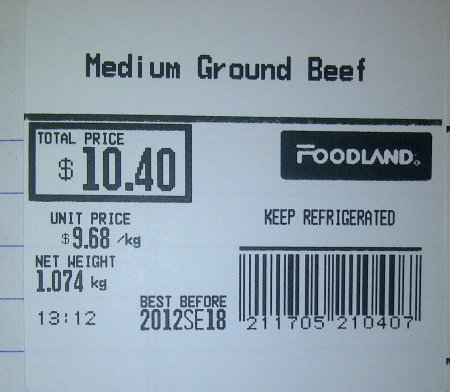 Foodland-Medium Ground Beef