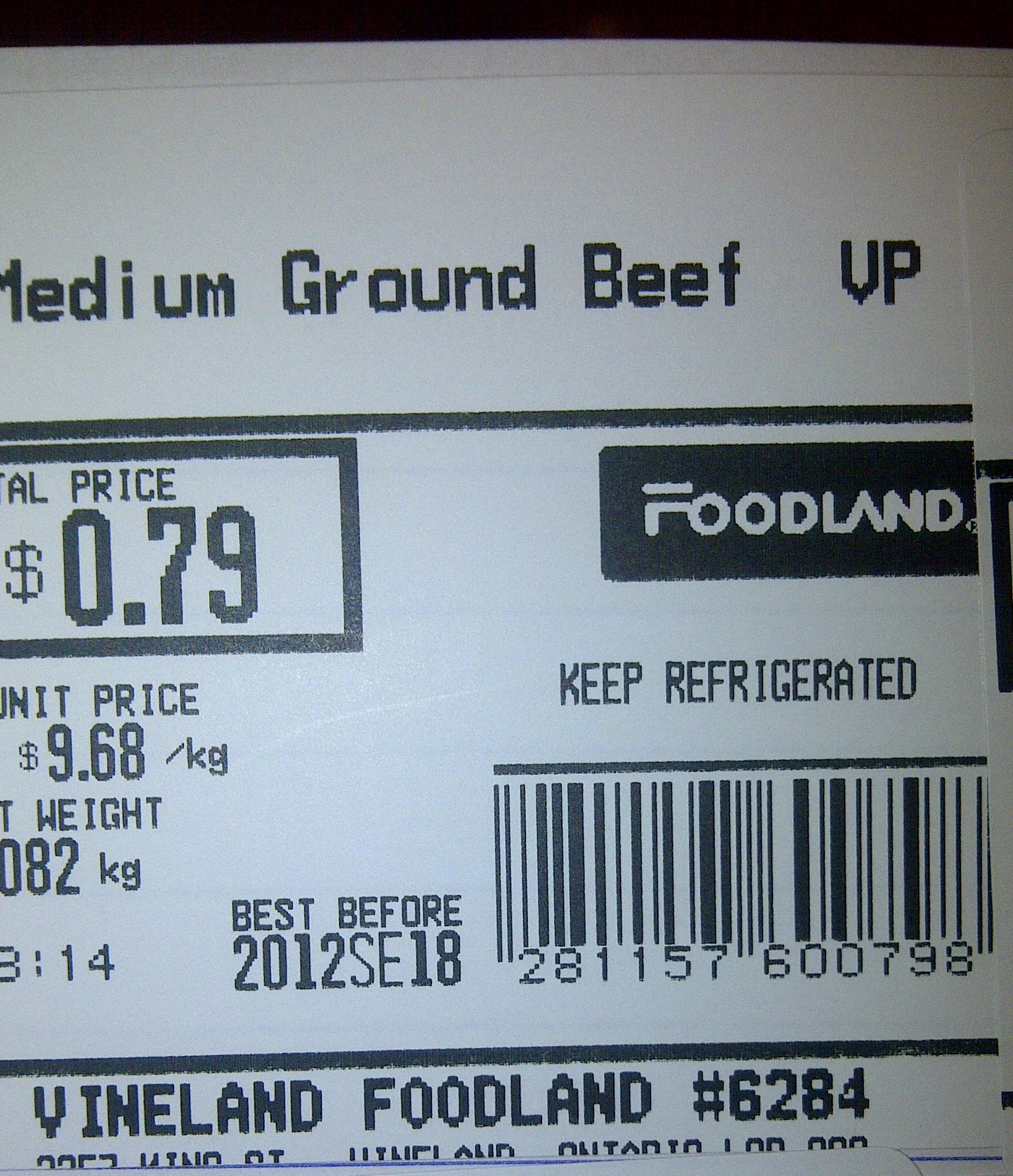 Foodland-Medium Ground Beef VP