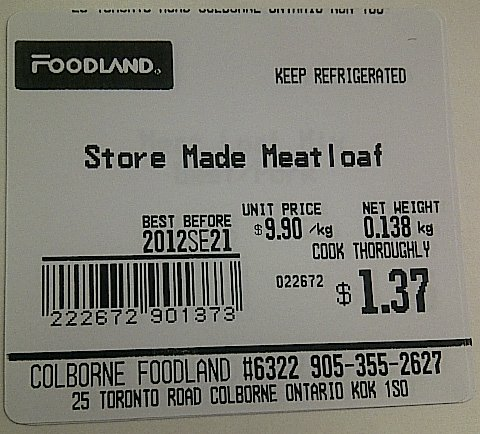 Foodland-Store Made Meatloaf