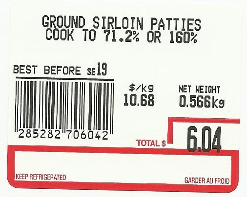 None-Ground Sirloin Patties