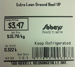 Sobeys - Extra Lean Ground Beef VP