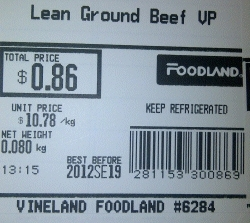 Foodland - Lean Ground Beef VP