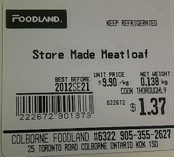 Foodland - Store Made Meatloaf