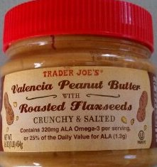 Valencia Peanut Butter with Roasted Flaxseeds, Crunchy & Salted