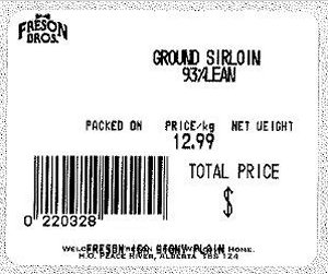 Freson Brothers - Ground Sirloin 93% Lean