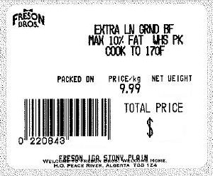 Freson Brothers - Extra Lean Ground Beef Maximum 10 % fat wholesale pack