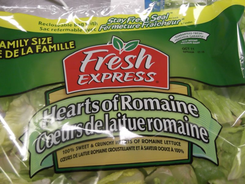 Fresh Express brand Hearts of Romaine salad - front
