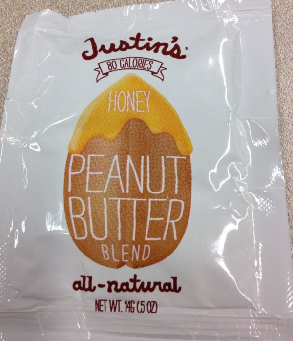Justin's brand Honey Peanut Butter Blend - front
