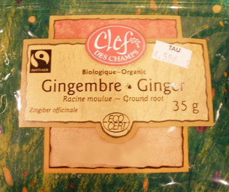 Organic Ground Ginger - 35 gram