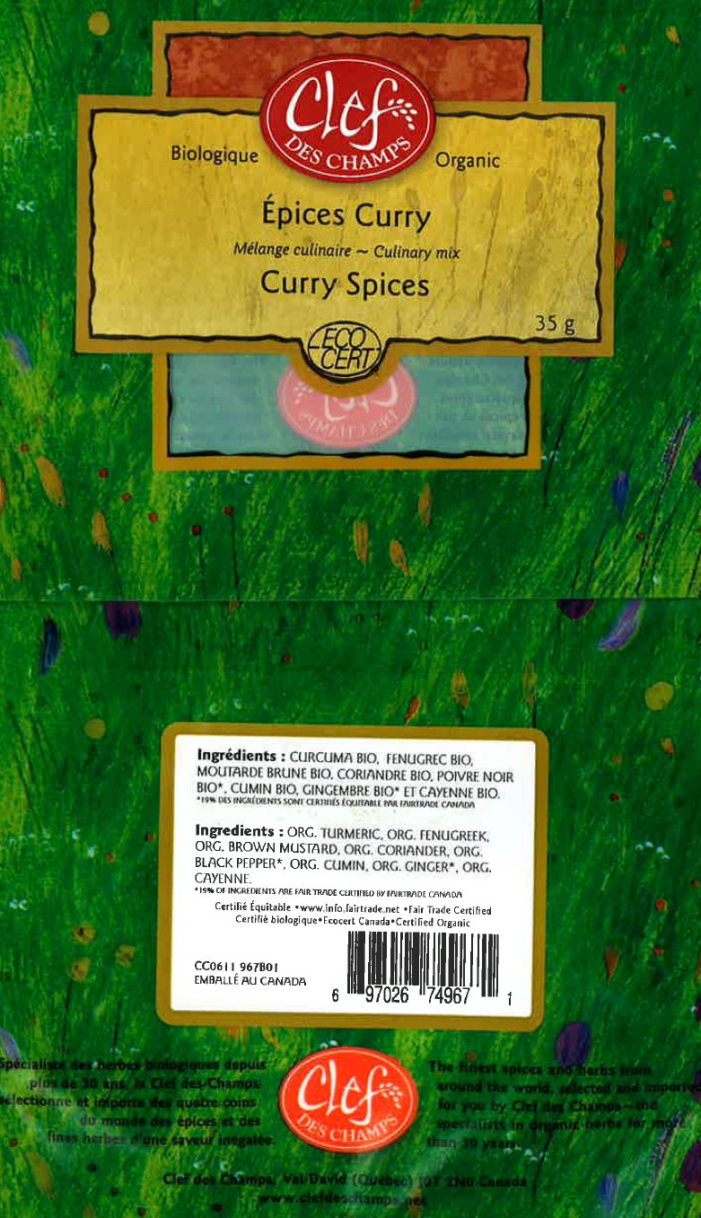 Organic Curry Spices Culinary Mix - Code CC0812 967B01