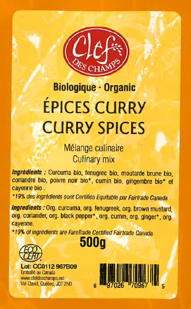 Organic Curry Spices Culinary Mix - Code CC0112 967B09