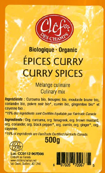 Organic Curry Spices Culinary Mix - Code CC0812 967B03