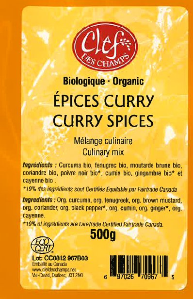 Organic Curry Spices Culinary Mix - Code CC0112 967B06