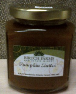 Birtch Farms and Estate Winery brand Pumpkin Butter