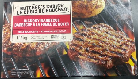 Butcher's Choice Hickory Barbecue Beef Burgers