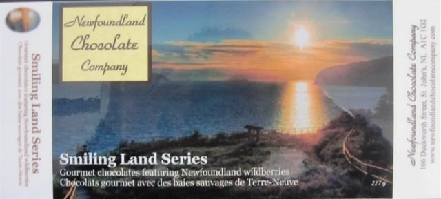 Smiling Land Series-Gourmet chocolates featuring Newfoundland wildberries