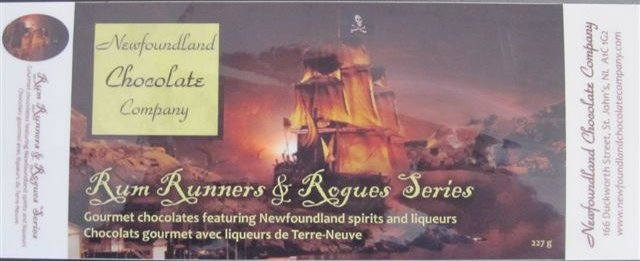 Rum Runners & Rogues Series Gourmet chocolates featuring Newfoundland spirits and liqueurs