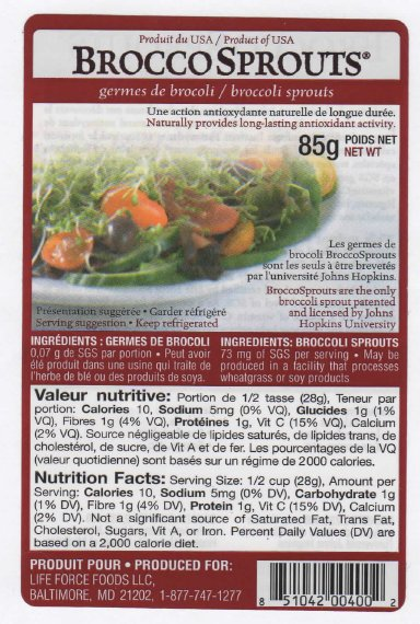 LifeForce Foods - Brocco Sprouts