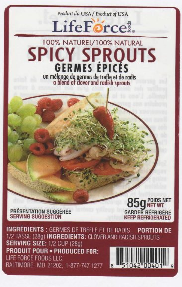 LifeForce Foods - Spicy Sprouts