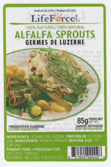LifeForce Foods - Alfalfa Sprouts