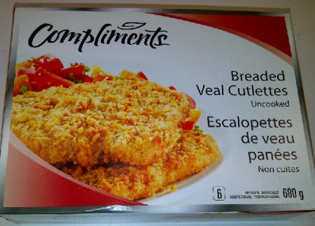 Compliments brand Breaded Veal Cutlettes