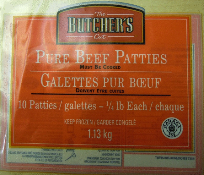 Pure Beef Patties - 10 Patties