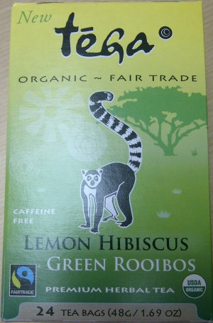 Organic Lemon Hibiscus Green Rooibos Herbal Tea de marque Tega