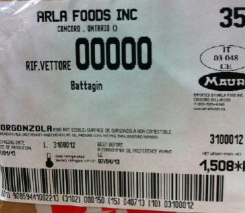 Arla Foods Incorporated-Gorgonzola cheese