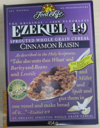 Ezekiel 4:9 Sprouted Whole Grain Cereal - Cinnamon Raisin