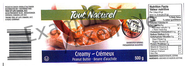 Tout Naturel Cream Peanut Butter