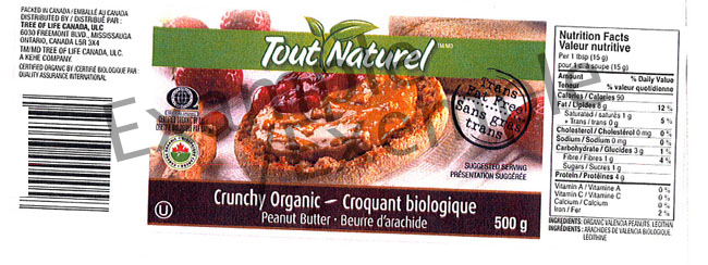 Tout Naturel Crunch Organic Peanut Butter