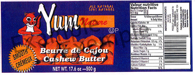 Yum Nature Smooth Cashew Butter