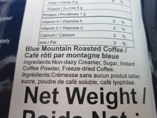 Ingredients-Blue Mountain  Roasted Coffee