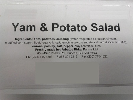 Yam and Potato Salad