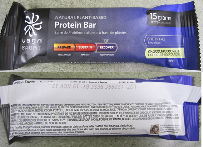 Natural Plant-based Protein Bar Chocolate Coconut