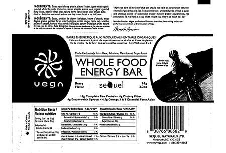 Whole Food Energy Bar Berry Flavor