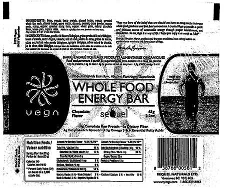 Whole Food Energy Bar Chocolate Flavor