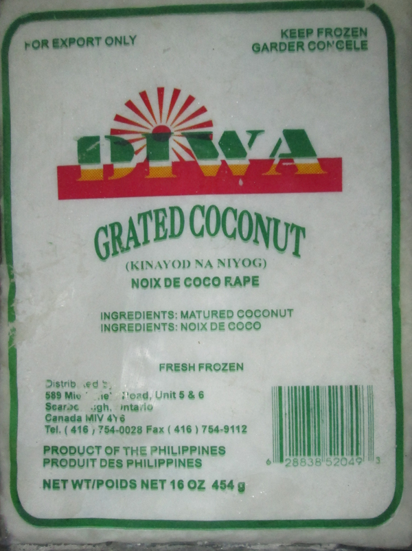 Diwa	Grated Coconut	16 ounce (454 grams)