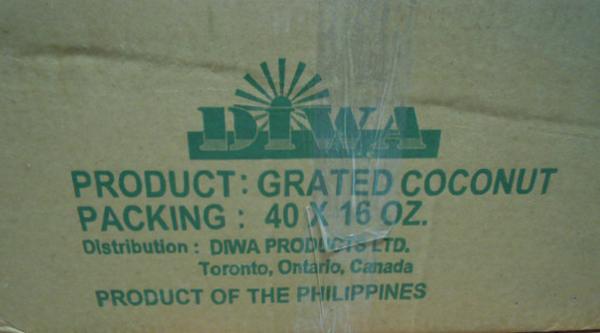 DiwaGrated Coconut 40 x 16 oz. case - Item 3 of 4