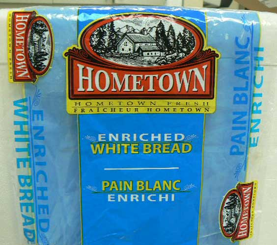 Hometown	- Enriched White Bread